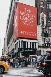 Macys shoppingsenter kjopesenter New York Manhattan USA